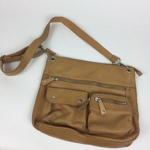 Fossil cross body Sutter leather Large bag purse